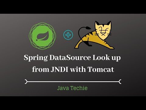 Spring DataSource Look Up From JNDI With Tomcat   Java Techie