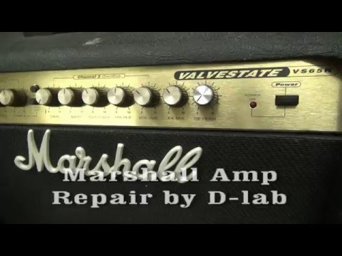 Vintage Marshall Valvestate VS65R Guitar combo amp repair by D-lab