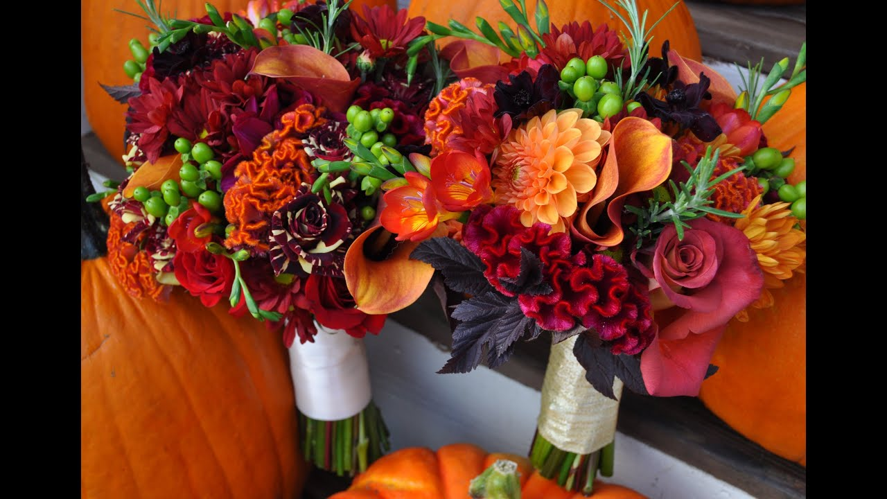 Fall Wedding Arrangements - YouTube