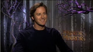 "Armie Hammer on ""Awkward Man-Child"" Role in Mirror Mirror and ""Awesome Dude"" Johnny Depp"