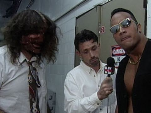 Mankind asks Dwayne The Rock Johnson to be his tag partner