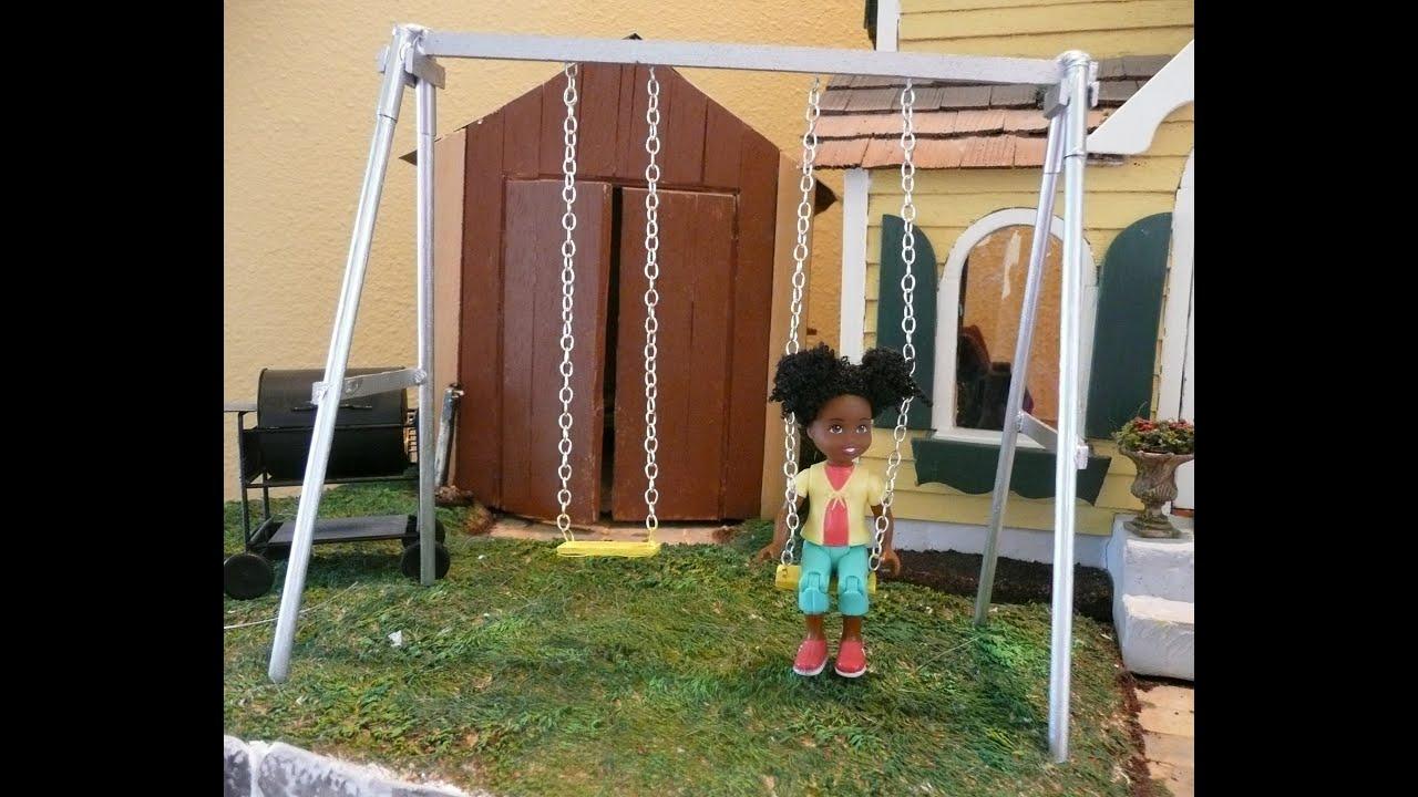 Dollhouse Miniature Swing Set Youtube