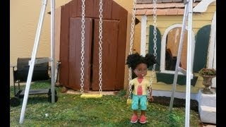 Dollhouse Miniature Swing-set