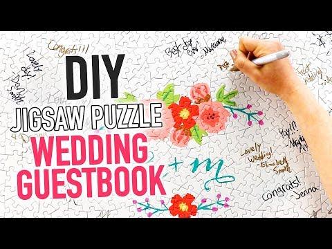 DIY Custom Jigsaw Puzzle WEDDING GUESTBOOK - HGTV Handmade