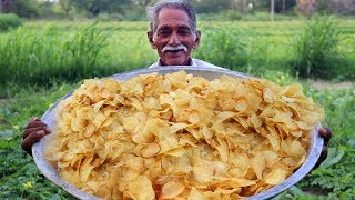 deep-fried potato crisps