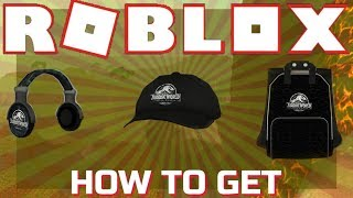 [EVENT] How to get: Jurassic World Headphones, Cap, Backpack - ROBLOX