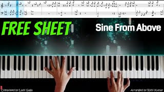 Sine from above (Piano Cover) | Lady Gaga & Elton John | Sine from Above Piano (Tutorial) видео