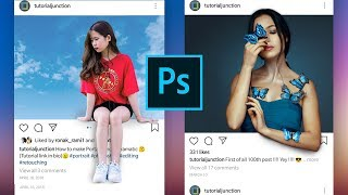 How to Create 3D instagram photo Frame Effect | Photoshop Tutorial