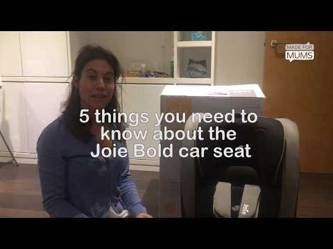 5 Things You Need To Know About The Joie Bold Car Seat | MadeforMums Vlogger Review