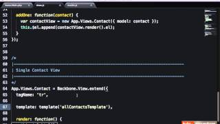 Backbone JS Hands On Contacts Manager Displaying Contacts - 28 tutsplus