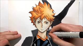 How to draw Hinata from Haikyuu!! step by step