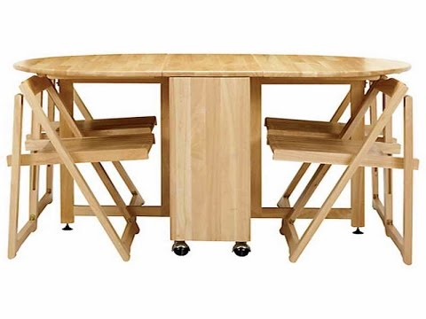 fold up dining room tables | Cool Collapsible Dining Table - YouTube