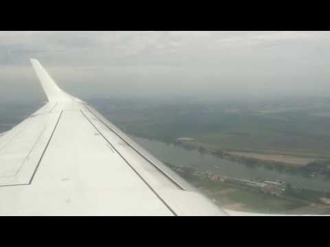 Landing Belgrade-Nikola Tesla, Serbia BEG from Tivat (4k) Montenegro Airlines 200 - E-195LR