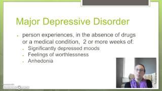 Mood Disorders-Major Depressive Disorder