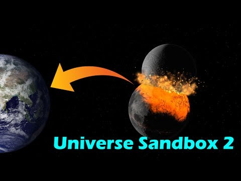 Knocking The Moon Out of Orbit [And Into Earth!] - Universe Sandbox 2 |