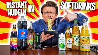 Ich KOCHE Instant-NUDELN 🍜 in SOFTDRINKS🥤🧃