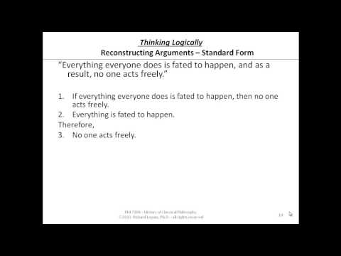 standard form philosophy  9-9-90 Reconstructing Arguments in Standard Form - YouTube