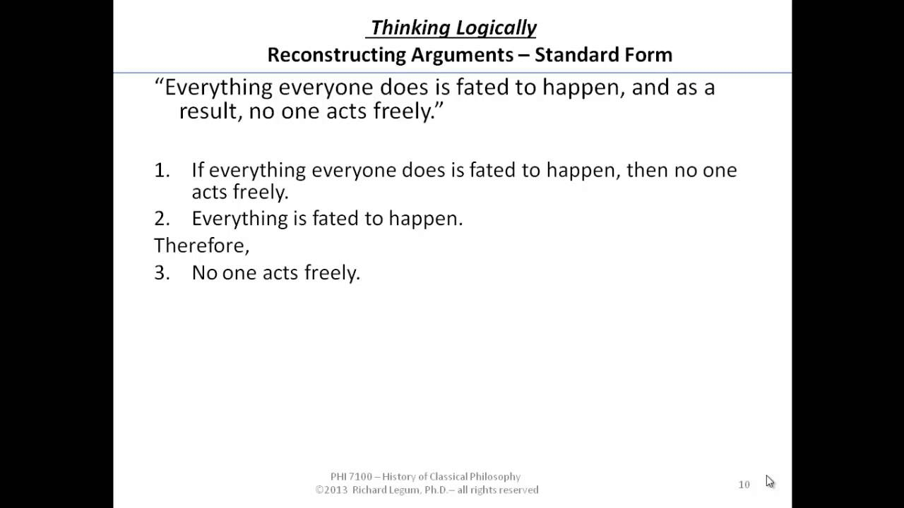 28-28-280 Reconstructing Arguments in Standard Form