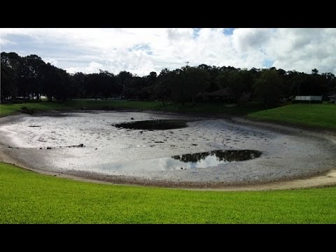 OCALA, FLORIDA RESIDENTS SHOCKED AS SINKHOLE OPENS UP SWALLOWING 5 ACRE POND TUESDAY (AUG 23, 2013)