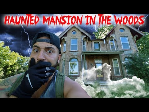 HAUNTED MANSION IN THE WOODS // SCARY SECRET ATTIC FOUND! | MOE SARGI