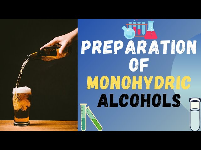 Preparation of Monohydric Alcohols | Class 12 | JEE  | NEET | PACE SERIES