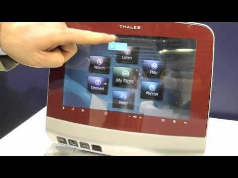 Thales Touchscreen and Gesture-based Inflight Entertainment System