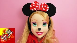 Disney 迪士尼 可爱Minnie Mouse 米妮老鼠 耳朵 儿童 发饰 发箍 示