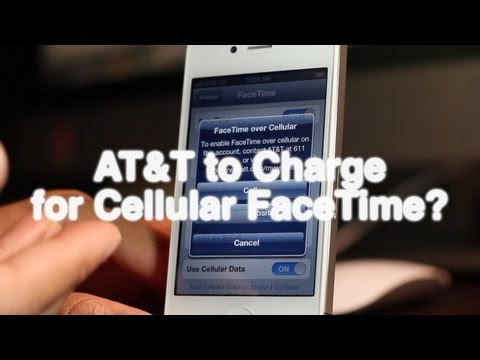 AT&T to charge for FaceTime over cellular?
