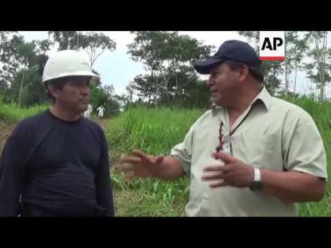 Oil spill harms waterways in Peru's Amazon