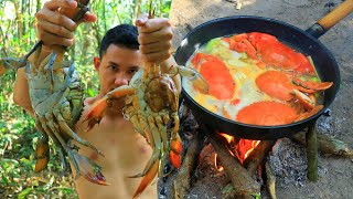 Seafood | Yummy a lot Crab Cooking in Forest