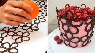 Chocolate Lace Flower Wrap Cake | CHOCOLATE HACKS by Cakes StepbyStep