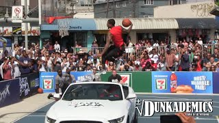Guy Dupuy INSANE Dunks Over Car to Win City Slam Dunk Contest in LA! Video