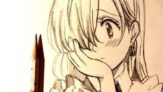ASMR | Pencil Drawing 90 | Elizabeth (Request)