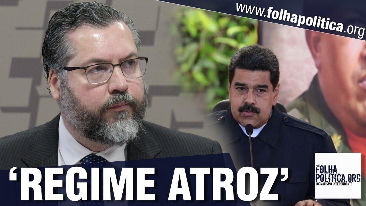 Ministro de Bolsonaro, Ernesto pede união pelo fim da ditadura de Maduro: 'Regime atroz, farsa de...