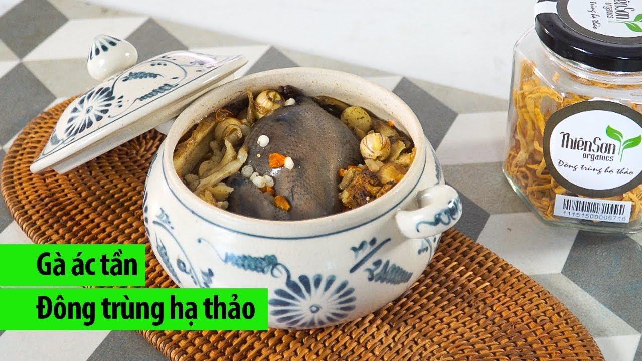 Cách nấu gà ác tần tiềm thuốc bắc đông trùng hạ thảo thơm ngon bổ dưỡng – Chóe Cooking