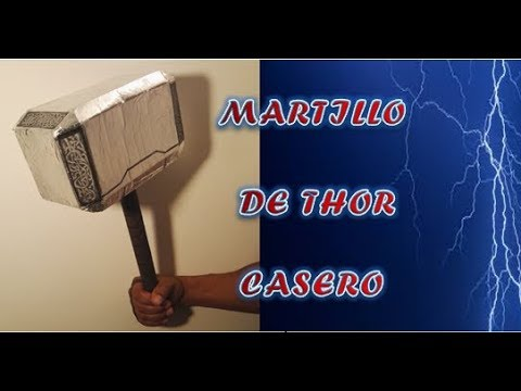 Martillo De Thor Avengers Casero En Carton Material Reciclado Youtube