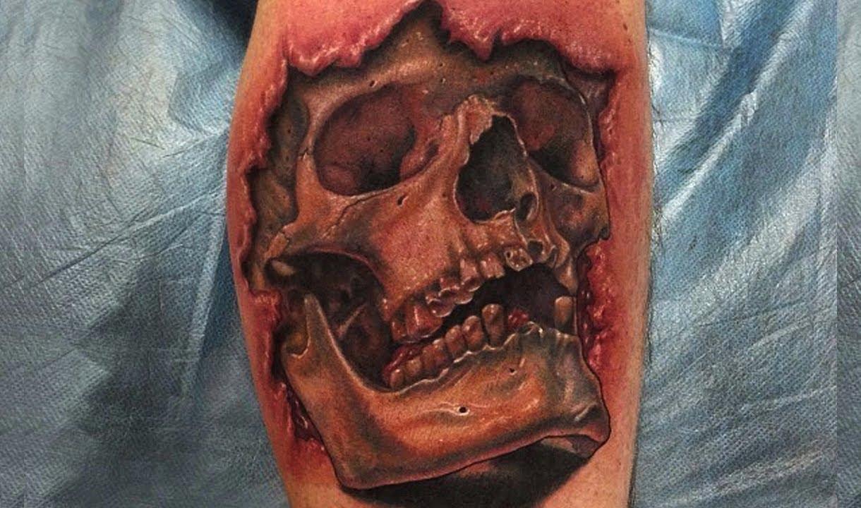3d tattoo designs - 3d Skull Tattoo Designs Best 3d Tattoos Awesome Tattoos Amazing Tattoo Ideas Youtube