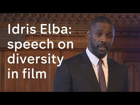 Idris Elba: Speech on diversity in the media and films
