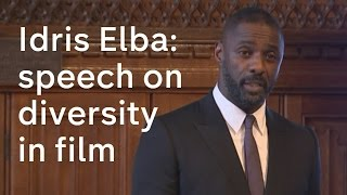 idris elba speech on diversity in the media and films