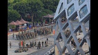 时事看台(斯洋):中国武警在深圳展肌肉, 警告香港抗议者
