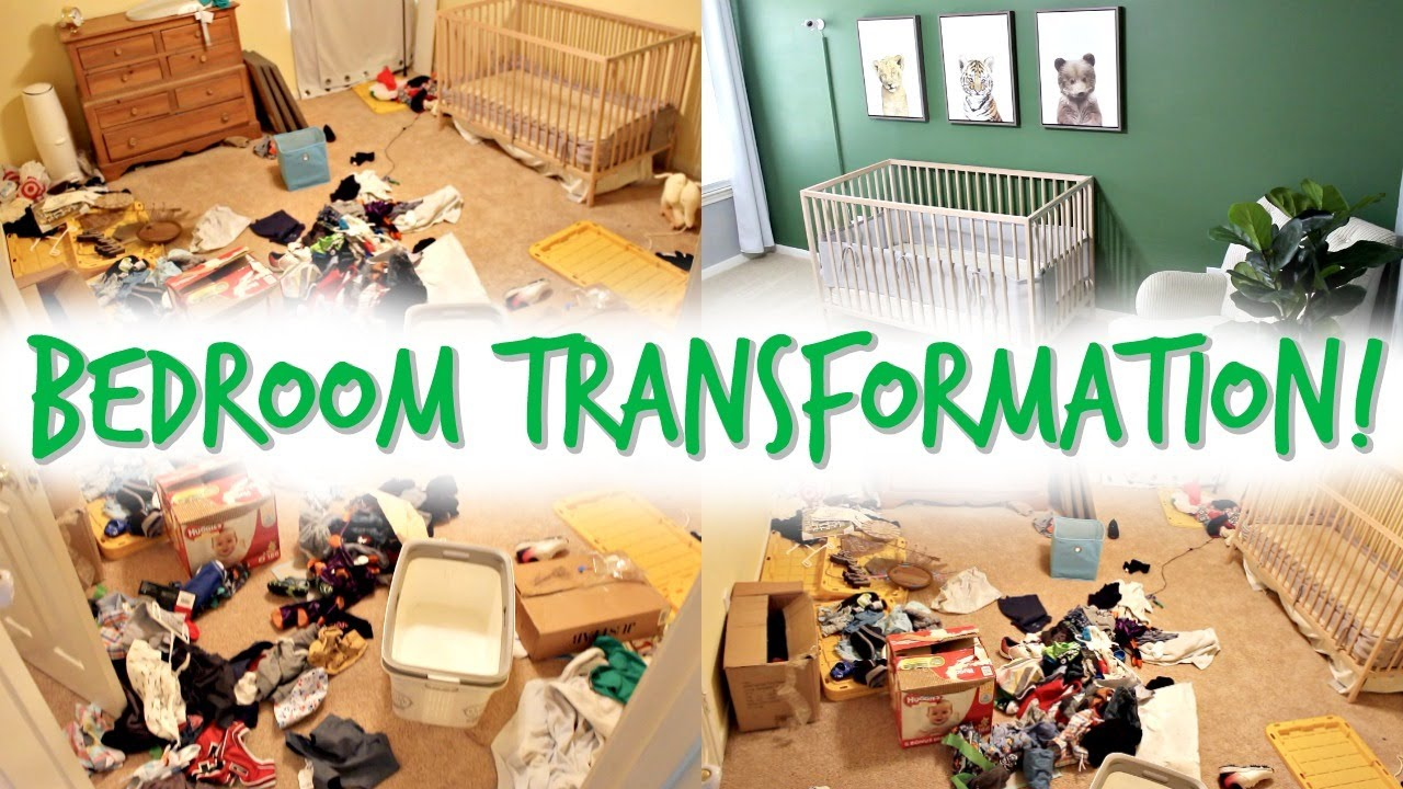 MASSIVE BEDROOM CLEAN + MAKEOVER! MESSY ROOM TRANSFORMATION! EXTREME CLEANING MOTIVATION! DECLUTTER!