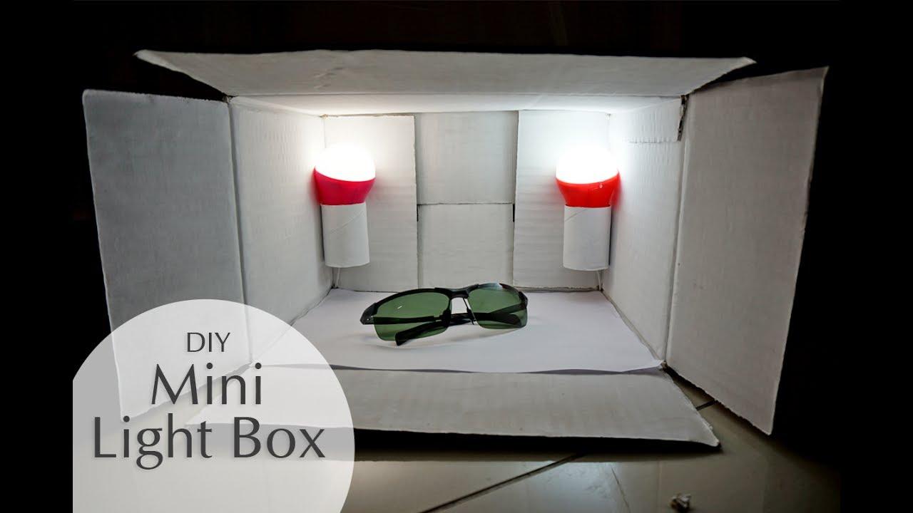 DIY Mini Light Studio with Cardboard Box - YouTube