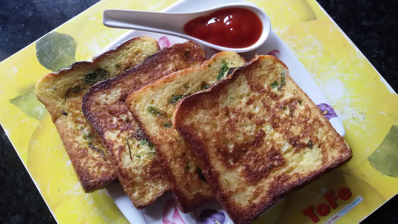 How To Make Easy Spicy Bread Toast With Egg And Milk