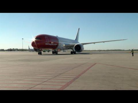 Norwegian Airlines inauguró los vuelos internacionales Low Cost