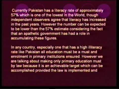 detailed presentation about e f a primary education in pakistan