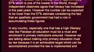 Detailed Presentation about E F A & Primary Education in Pakistan