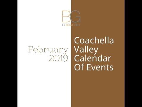 Cochella Valley Events Calendar February 2019 February 2019 Coachella Valley Calendar Of Events   YouTube