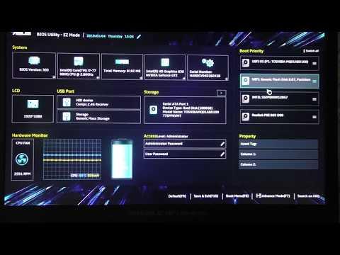 Trip - Настройка BIOS UEFI, установка Windows на ноутбук ASUS ROG GL753