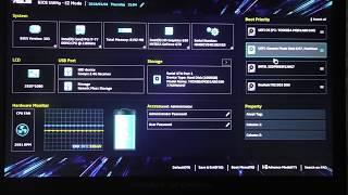 Настройка BIOS, установка Windows на ноутбук ASUS ROG GL753