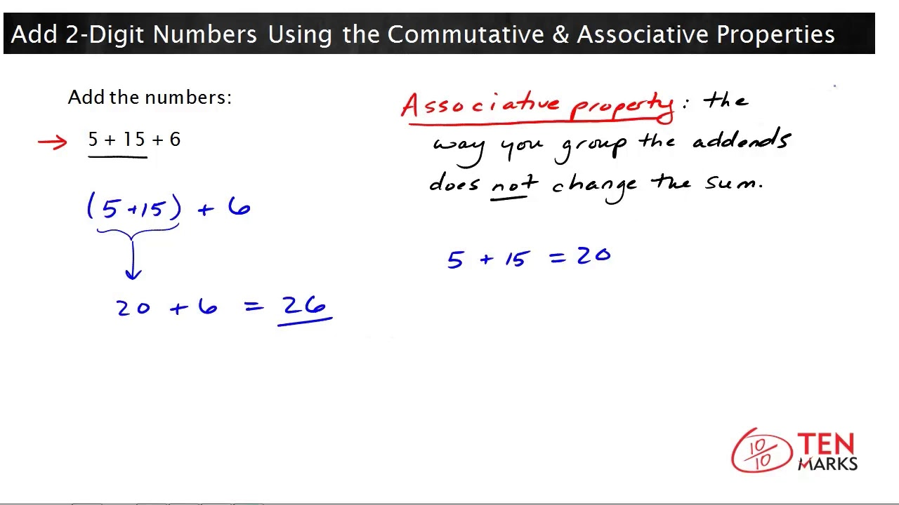 how to use associative property
